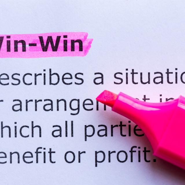 """win win"" stock image"