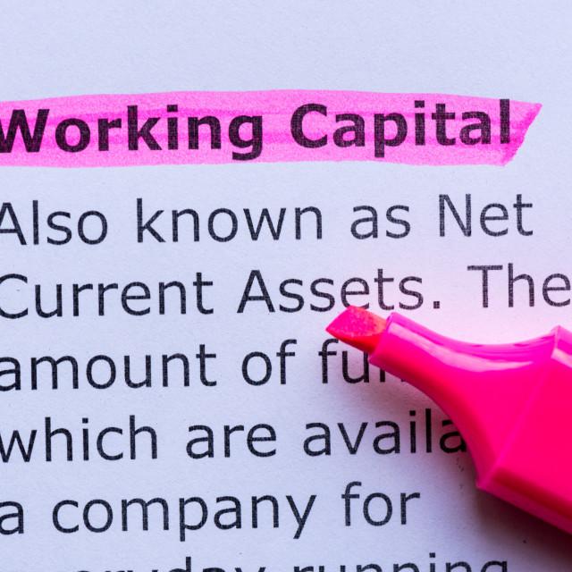 """working capital"" stock image"