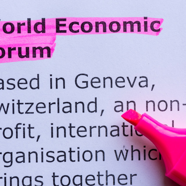 """world economic forum"" stock image"