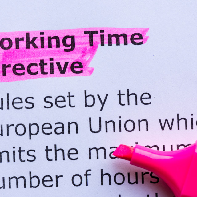 """""""working time directive"""" stock image"""