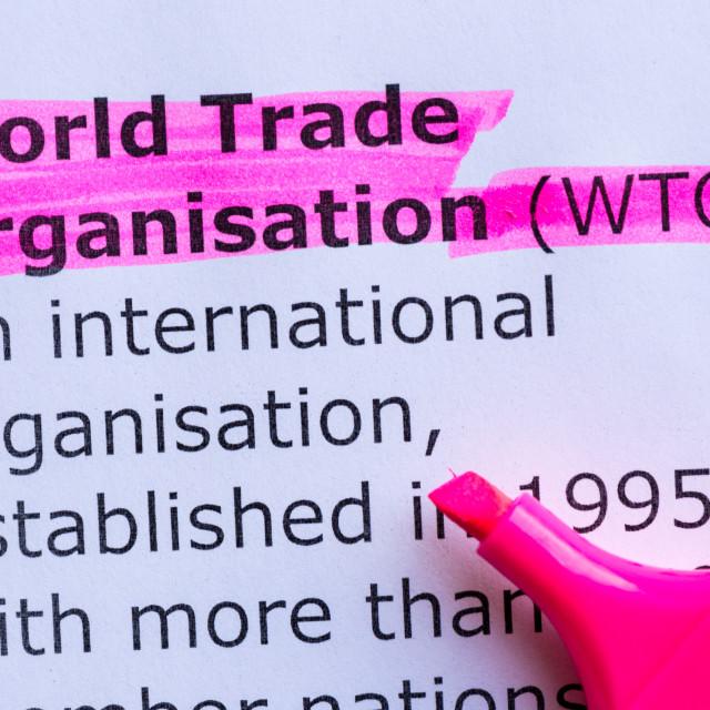 """world trade organisation"" stock image"