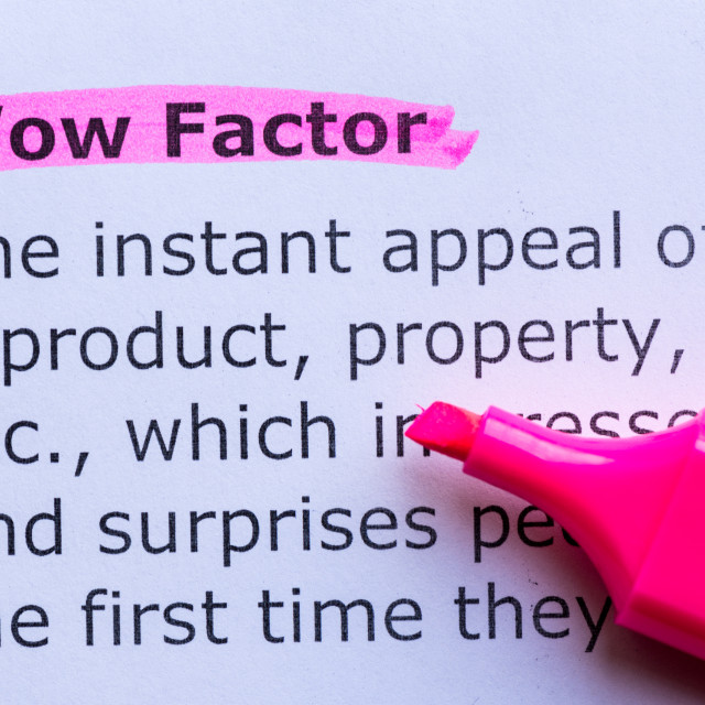 """""""wow factor"""" stock image"""