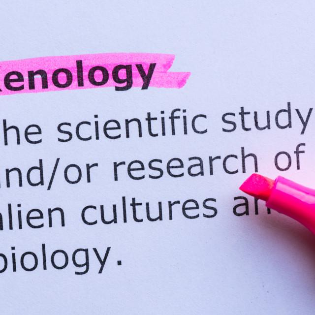 """xenology"" stock image"