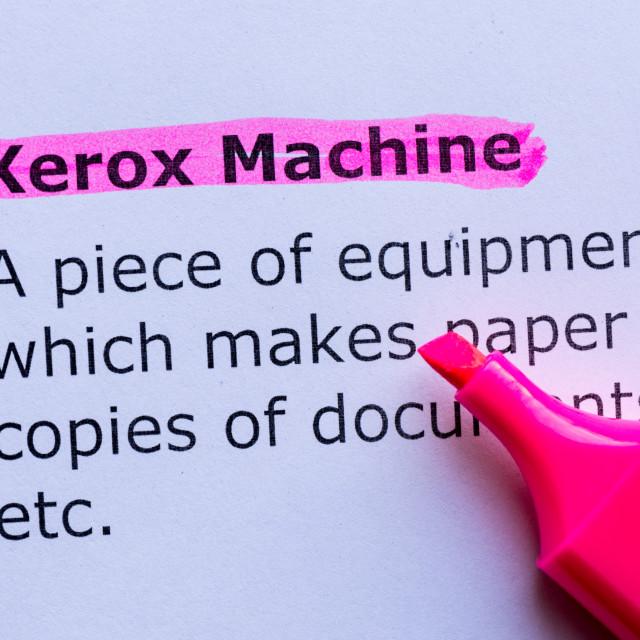 """""""xerox machine"""" stock image"""