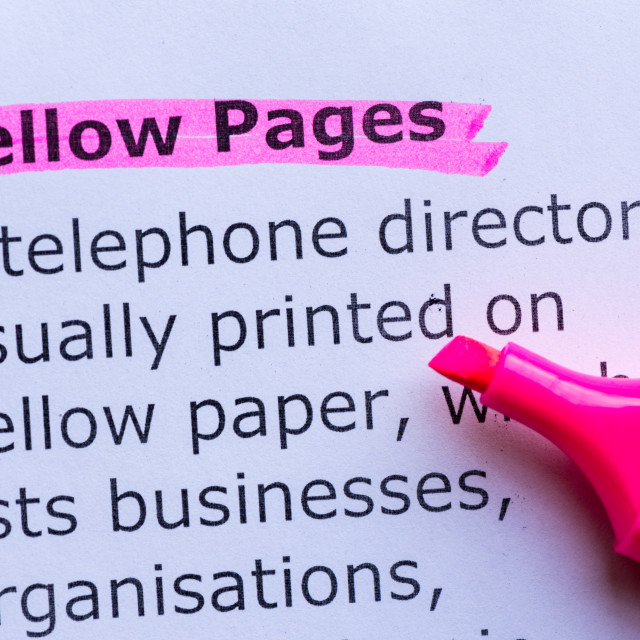 """""""yellow pages"""" stock image"""