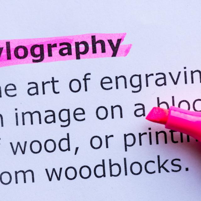 """""""xylography"""" stock image"""