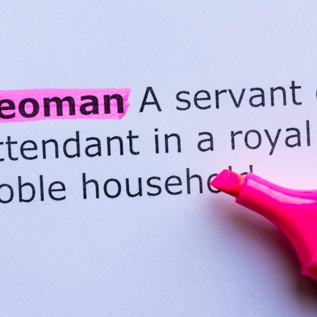 """""""yeoman"""" stock image"""