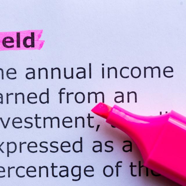 """""""yield"""" stock image"""