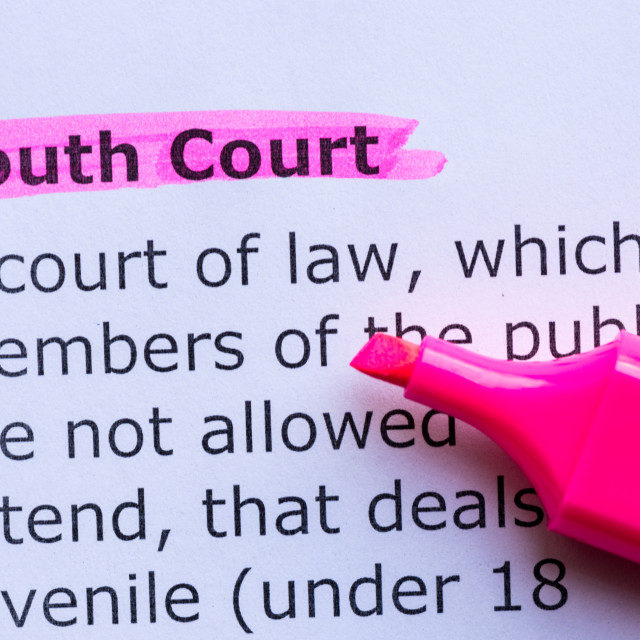 """""""youth court"""" stock image"""