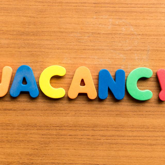 """""""vacancy"""" stock image"""