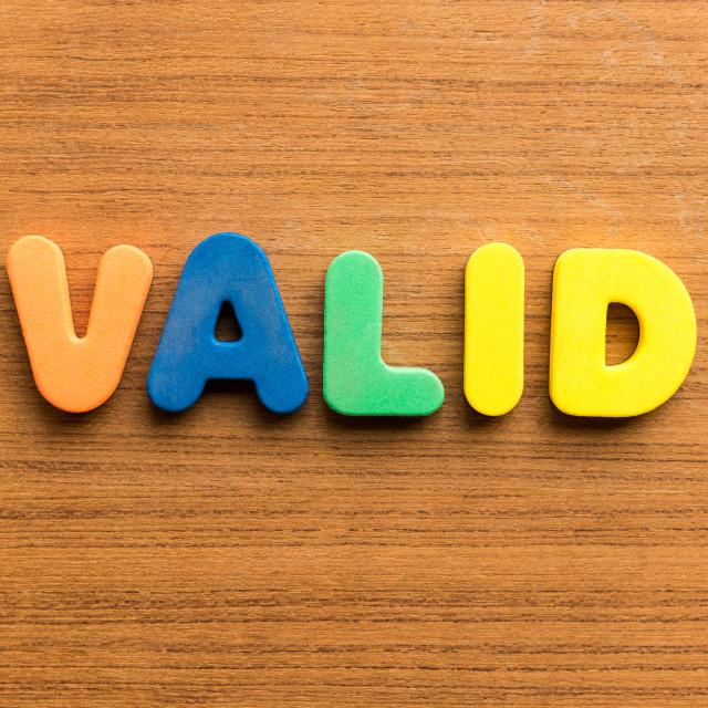 """valid"" stock image"