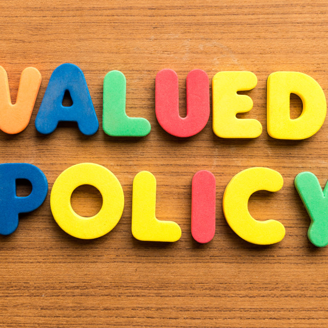 """valued policy"" stock image"