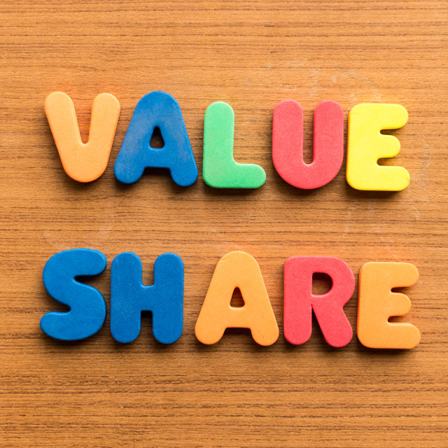 """""""value share"""" stock image"""