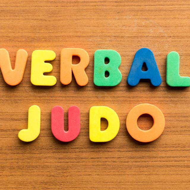 """verbal judo"" stock image"