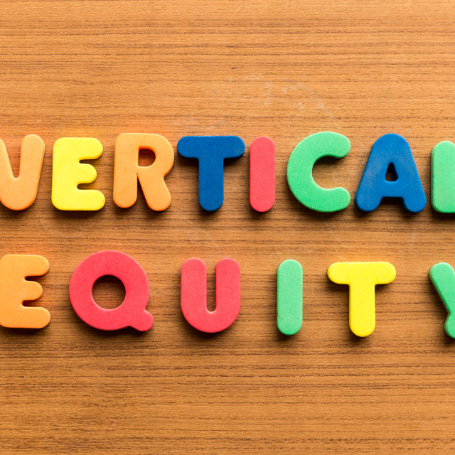 """vertical equity"" stock image"