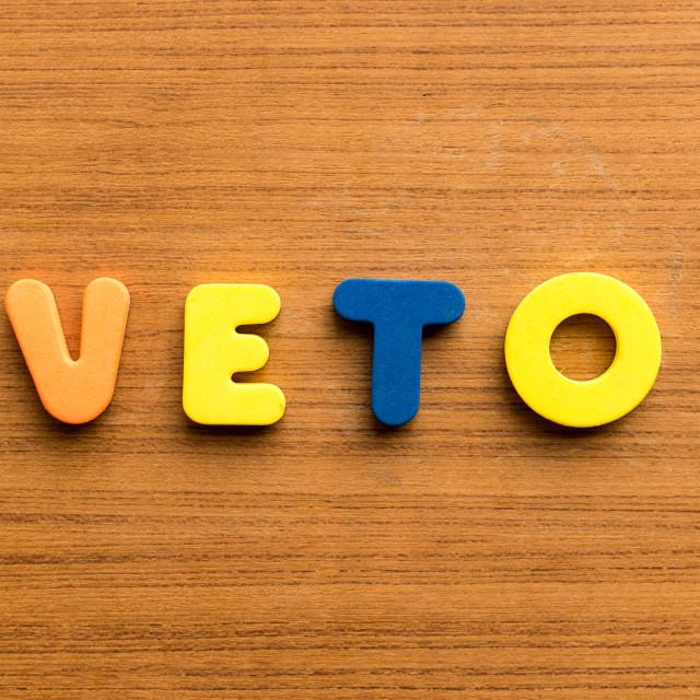 """""""veto"""" stock image"""