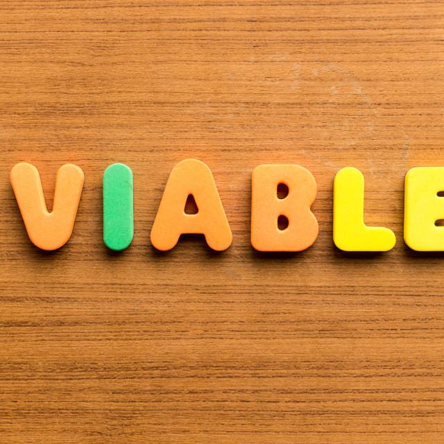 """""""viable"""" stock image"""