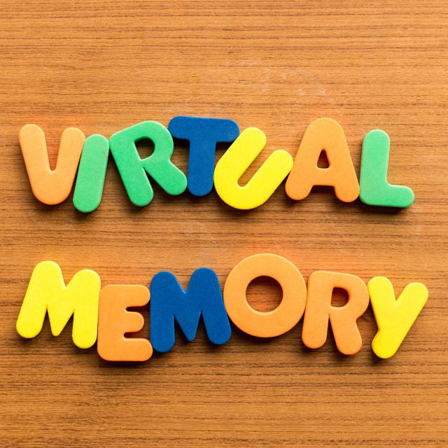 """vitual memory"" stock image"