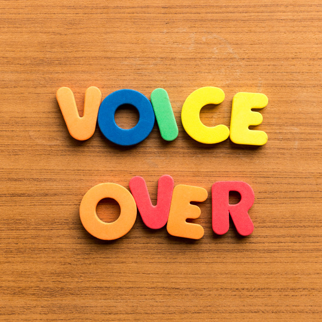"""""""voice over"""" stock image"""