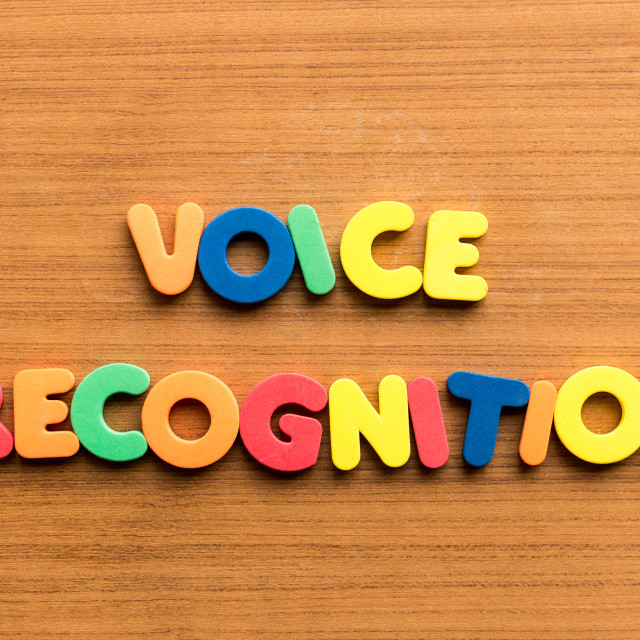 """voice recognition"" stock image"