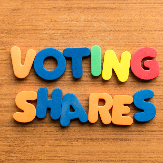 """voting shares"" stock image"