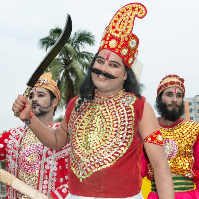 """""""Janmashtami Drama in Dhakeswari Temple"""" stock image"""