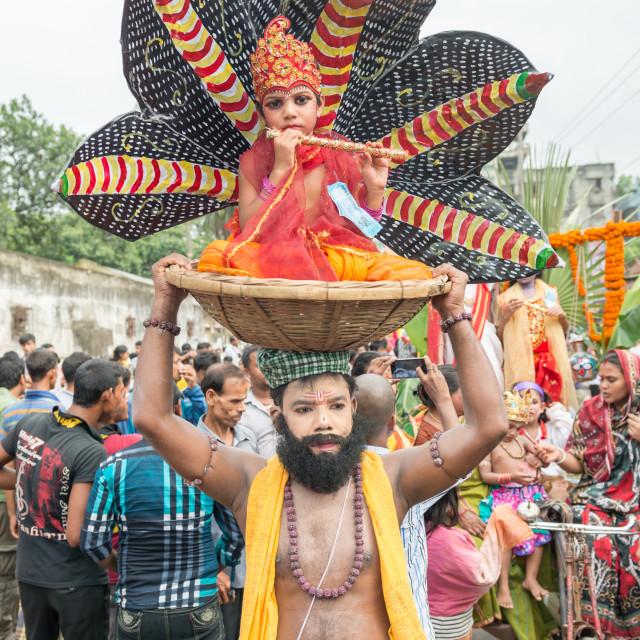 """""""Janmashtami in Dhakeswari Mondir"""" stock image"""
