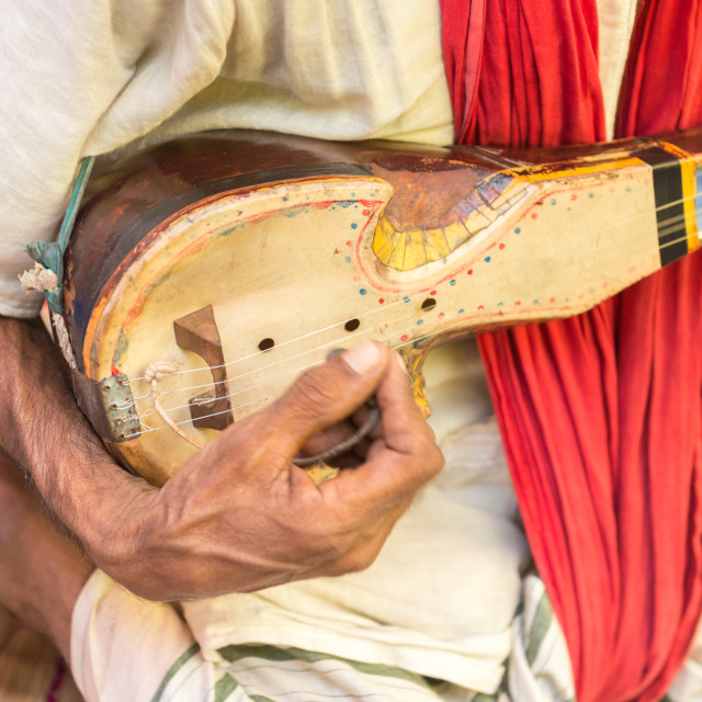 """One stringed musical instrument known as Ektara"" stock image"