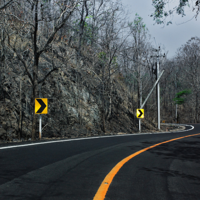 """Way,Road | Doi PhiPanNam"" stock image"