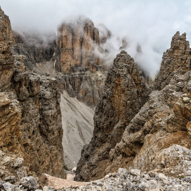 """Dolomiti - high Mezdi valley"" stock image"