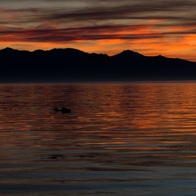 """""""Sunset over the Isle of Arran"""" stock image"""