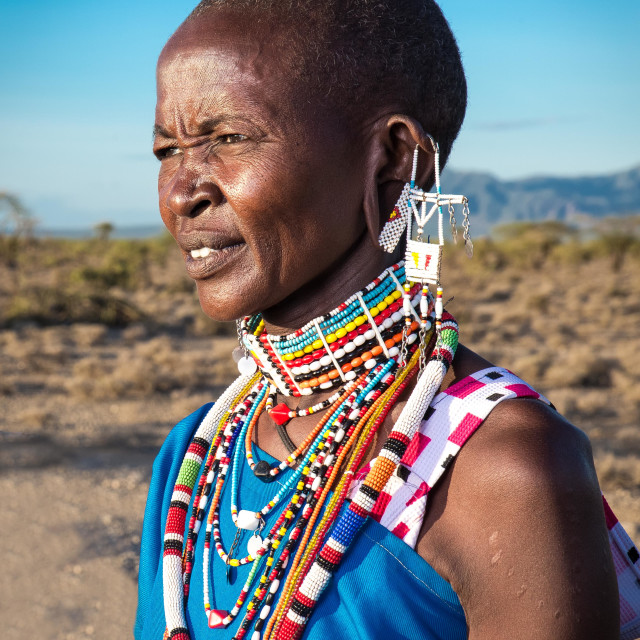 """Maasai portrait"" stock image"