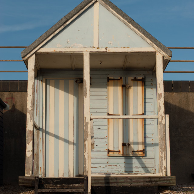 """Just another beach hut"" stock image"