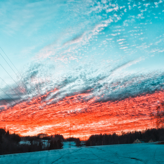 """""""Electric sunset"""" stock image"""