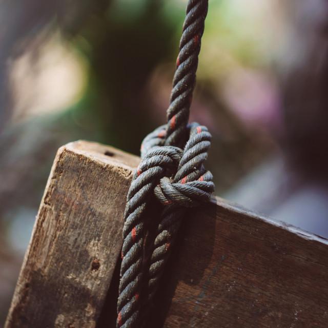 """swing | rope"" stock image"
