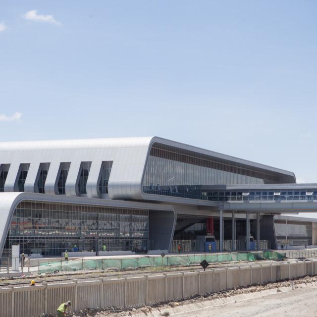 """Nairobi Terminus construction -#CelebrateAfrica"" stock image"