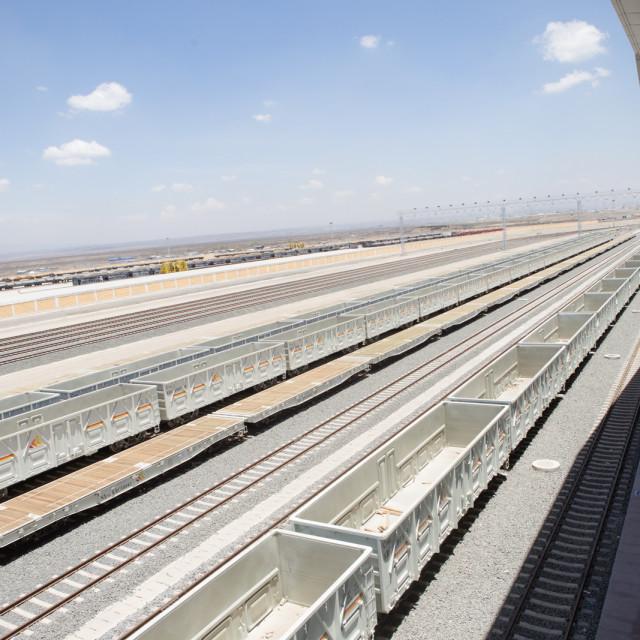 """Aerial view of the Nairobi terminus"" stock image"