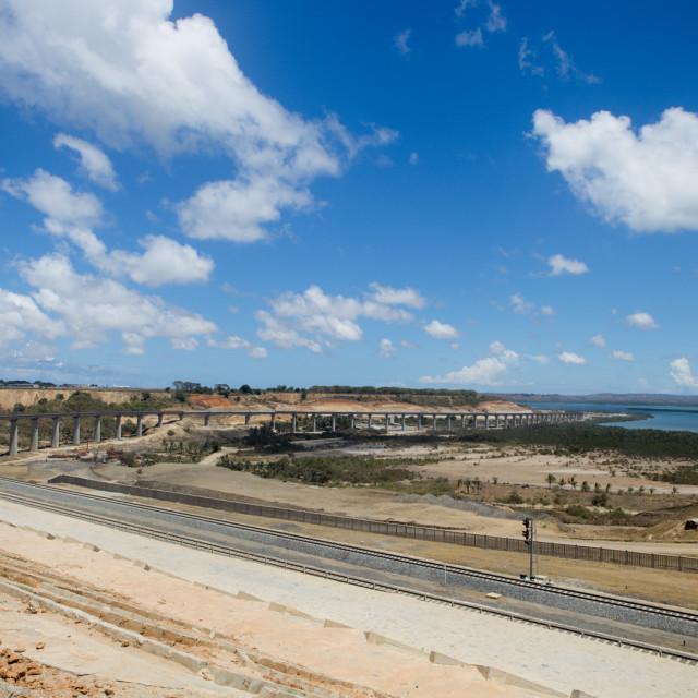 """Super Bridge #CelebrateAfrica"" stock image"