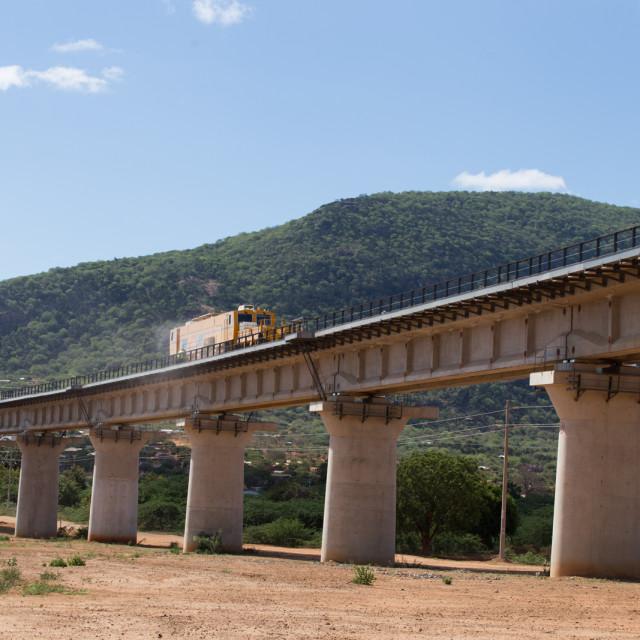 """Construct rail-#CelebrateAfrica"" stock image"