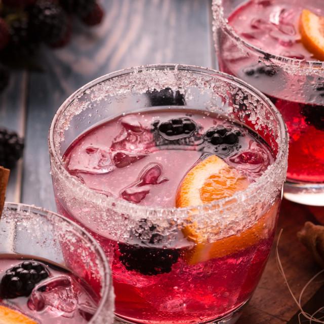 """Blackberry Drink."" stock image"