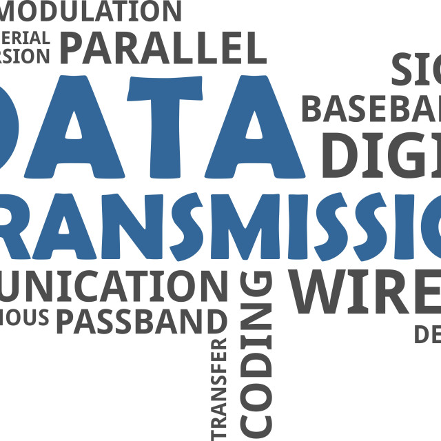 word cloud - data transmission - License for £4.96 on Picfair
