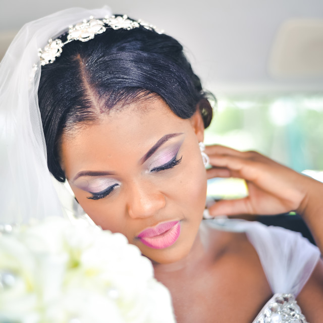 """Africa most beautiful bride"" stock image"