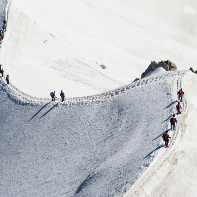 """Snow Trekking 5"" stock image"