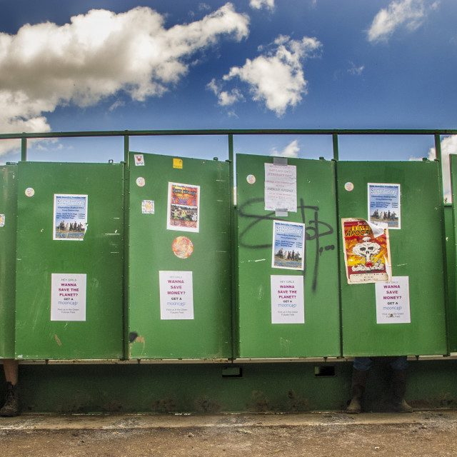 """Glasto toilets"" stock image"