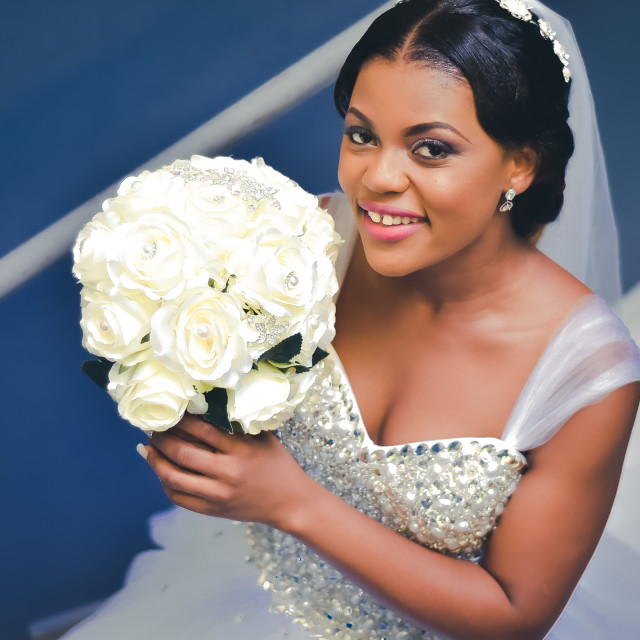 """""""Africa most beautiful bride"""" stock image"""