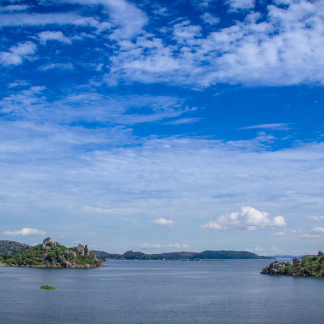 """The Islands of Lake Victoria"" stock image"