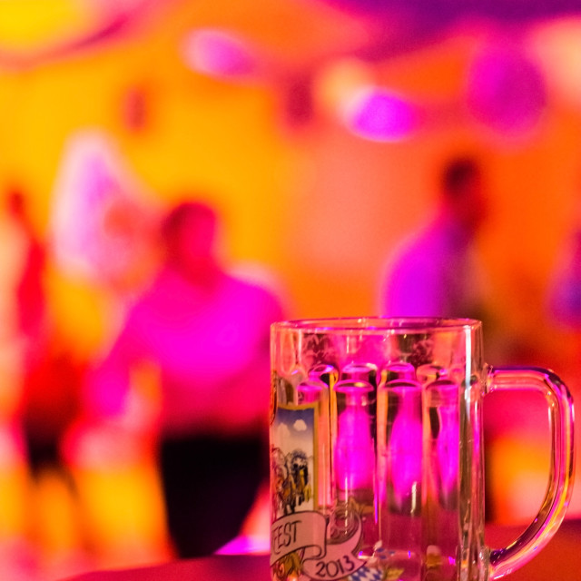 """celebration with beer glas"" stock image"