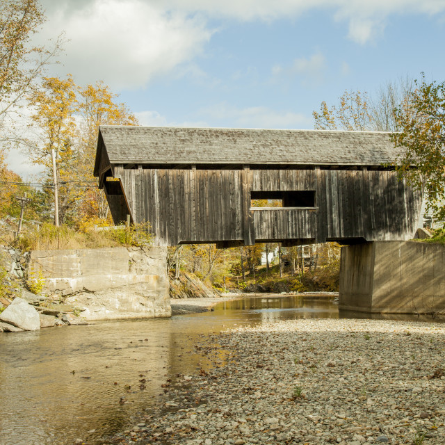 """Old Wooden bridge, USA"" stock image"