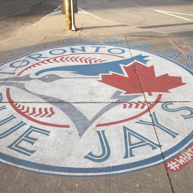 """Blue Jay's, baseball, Toronto logo"" stock image"