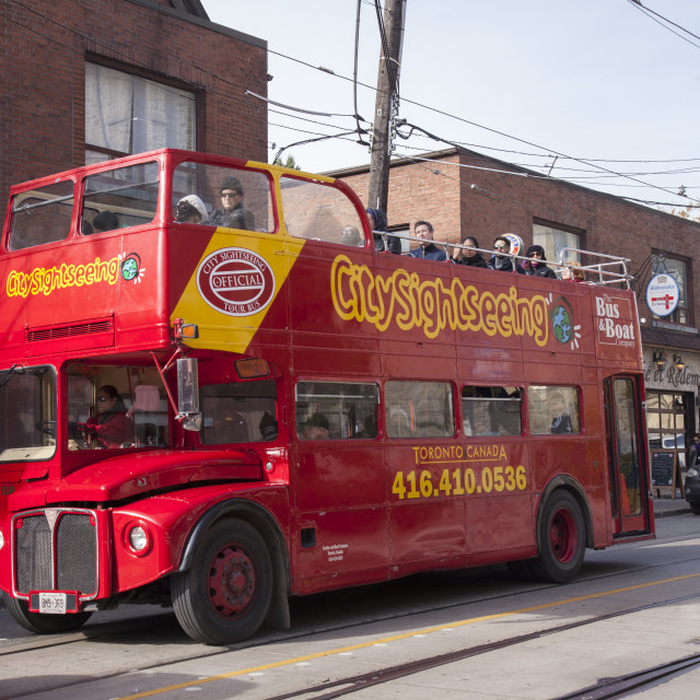 """City Sightseeing bus in Toronto, Canada"" stock image"
